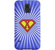 X letter in Superman style Samsung Galaxy Case/Skin