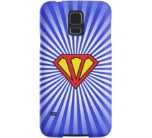 V letter in Superman style Samsung Galaxy Case/Skin