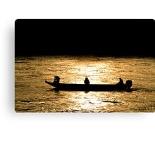 Danube boaters Canvas Print