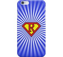 R letter in Superman style iPhone Case/Skin