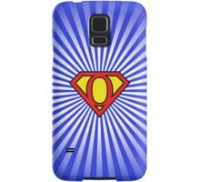 O letter in Superman style Samsung Galaxy Case/Skin