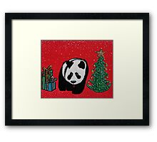 A Panda For Christmas Framed Print