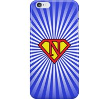 N letter in Superman style iPhone Case/Skin