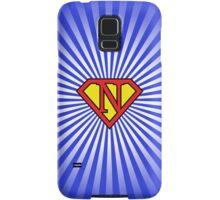 N letter in Superman style Samsung Galaxy Case/Skin
