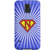 N letter in Superman style Samsung Galaxy Case/Skin
