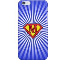 M letter in Superman style iPhone Case/Skin