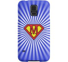 M letter in Superman style Samsung Galaxy Case/Skin