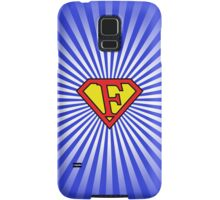 F letter in Superman style Samsung Galaxy Case/Skin