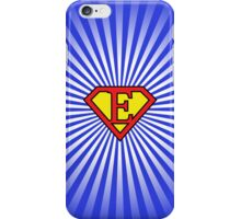 E letter in Superman style iPhone Case/Skin
