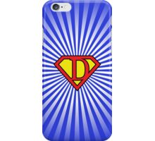 D letter in Superman style iPhone Case/Skin