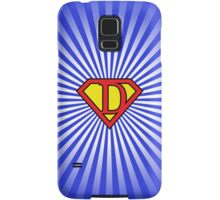 D letter in Superman style Samsung Galaxy Case/Skin