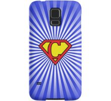 C letter in Superman style Samsung Galaxy Case/Skin