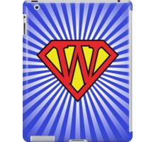W letter in Superman style iPad Case/Skin