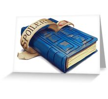Spoilers, River Song's Tardis Journal Greeting Card