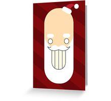 Santa Creep #2, Red Background Greeting Card