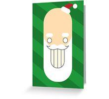 Santa Creep #2, Green Background Greeting Card