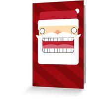 Santa Creep #4, Red Background Greeting Card