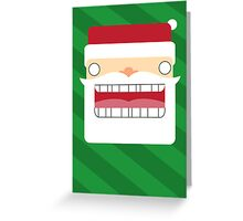Santa Creep #4, Green Background Greeting Card