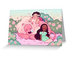 Naptime with Lion Greeting Card