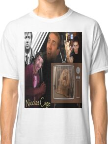 Nicolas Cage Montage Classic T-Shirt