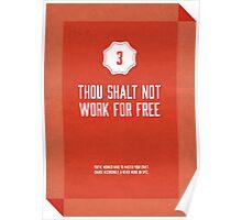 Commandment #3 of graphic design Poster