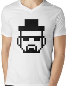 HEISENBERG (Black and White) Mens V-Neck T-Shirt