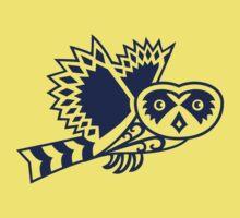 Pueo the Protector Hawaiian Owl Tribal Design Kids Clothes
