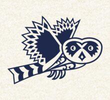 Pueo the Protector Hawaiian Owl Tribal Design by chongolio