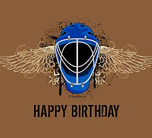 Hockey Goalie Birthday Card by SaucyMitts