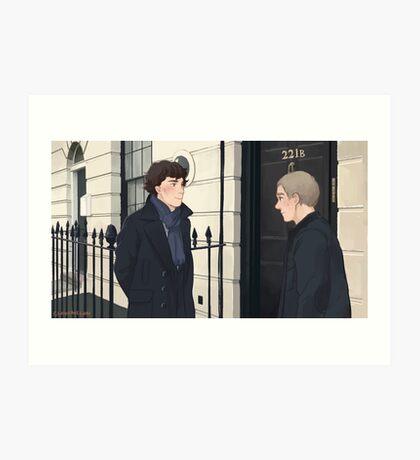 The Address is 221B Baker Street Art Print