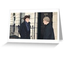 The Address is 221B Baker Street Greeting Card