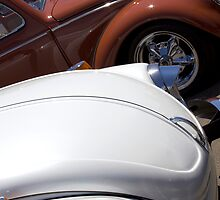 VW Beetles in White and Brown by studiojanney