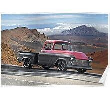 1956 Chevrolet Stepside Pick-Up Truck V Poster