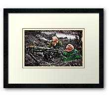 wartime : target practice Framed Print