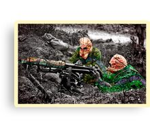 wartime : target practice Canvas Print