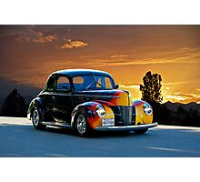 1940 Ford '4D Fun' Deluxe Coupe Photographic Print
