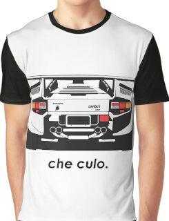 Lamborghini Countach - Che Culo Graphic T-Shirt