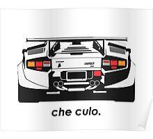Lamborghini Countach - Che Culo Poster