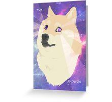 Doge - such galaxy Greeting Card