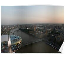 On Top of London, the Eye Poster