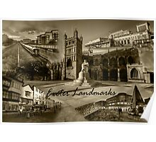 Exeter Landmarks  Poster