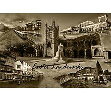 Exeter Landmarks  Photographic Print