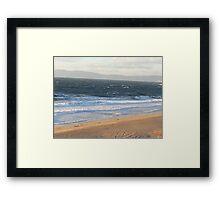 Windy Coast in Redondo Beach Framed Print