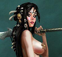 Warrior Woman by Emil Landgreen