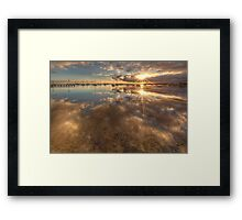 Dual Sunbursts Framed Print