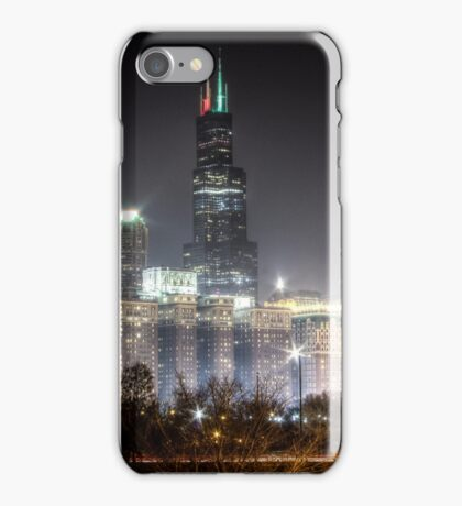 Chicago Skyline - Sears Tower - Night iPhone Case/Skin