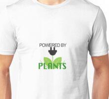 Powered by PLANTS Vegan Art 2 Unisex T-Shirt