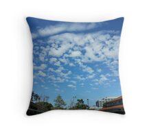 Circular Cloud Formation Throw Pillow