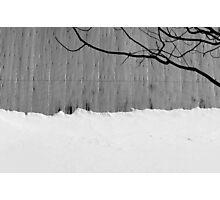 Barn Roof, Snow, Tree Photographic Print