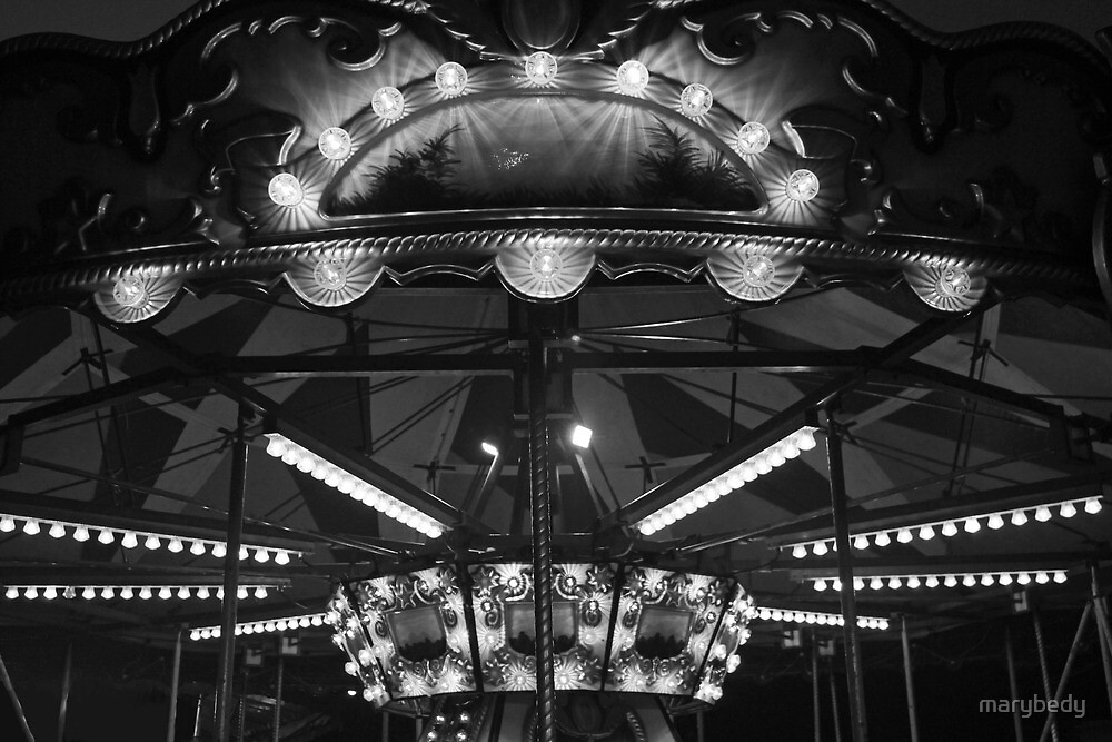 Carousel 3 Black and White by marybedy